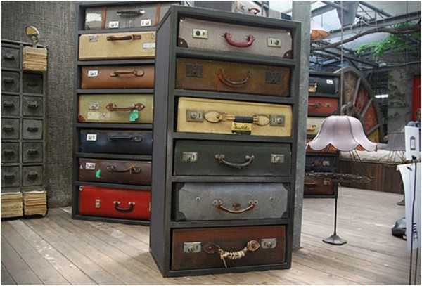 Recycling Old Suitcases For Vintage Furniture Chests With