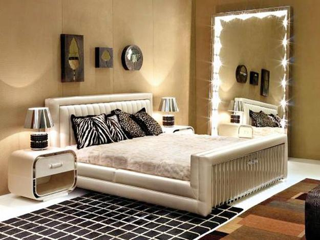 Wall Mirrors and 33 Modern Bedroom Decorating Ideas Full length  lighted large mirror for modern bedroom decorating