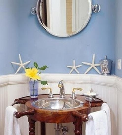 30 Modern Bathroom Decor Ideas  Blue Bathroom Colors and Nautical     Nautical decor ideas for modern bathroom decorating in red  white and blue  colors