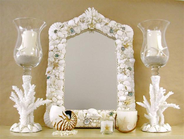 Enhancing Nautical Decor Theme With Sea Shell Crafts And