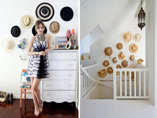 Fun Wall Decorating With Hats Adds Unique Accents To Home Interiors