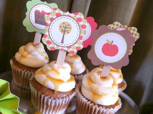 Toppers em cupcake