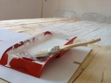 Definitivamente la pintamos. El blanco y madera hacen una confinación perfecta