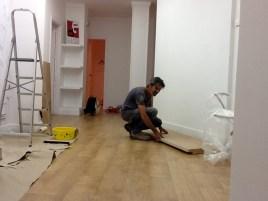 fabricando el mueble de recepción 17