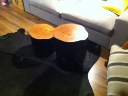 Interiorismo reforma y amueblamiento. diseño de muebles. mesa tronco nordica 152