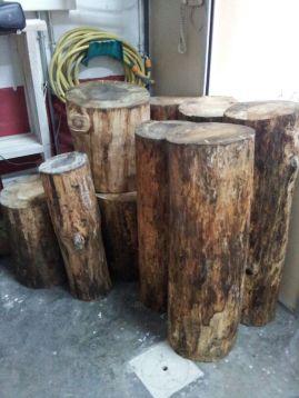 mesa auxiliar mesa tronco stump mesuta de café 52