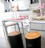 proyecto decoración y amueblamiento mesas de cafe a medida mesas tronco TABURETES DE MADERA49