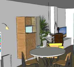 interiorismo las rozas, salón, diseño de muebles, diseño de mesa, decoración lowcost (2)