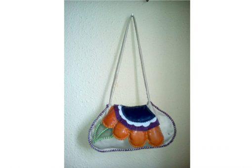 bolso mujer artesanal cuero