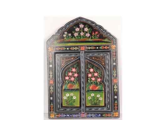 espejo marroqui madera pintada negro