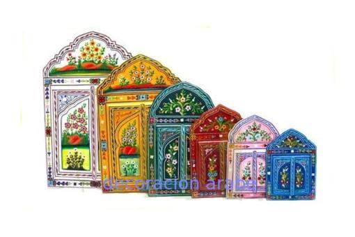 Espejo marroquí madera pintada