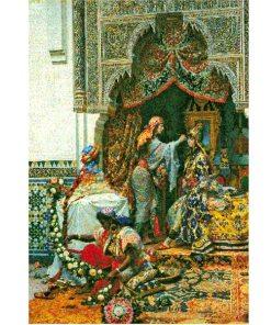 pintura de Marruecos, boda