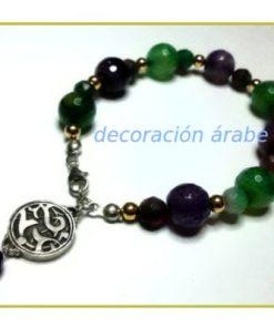pulsera árabe plata, ágatas