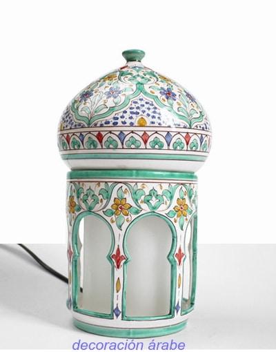 lampara árabe andaluza cerámica