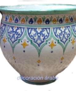 macetero cerámica andaluza árabe