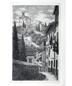 Grabado Alhambra, Granada