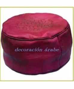 puff ancho piel árabe marroquí
