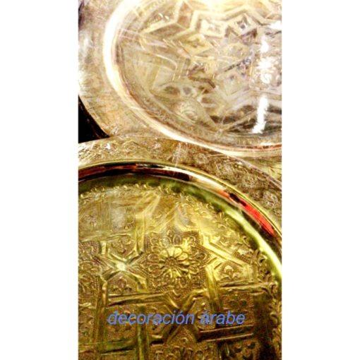 bandejas marroquíes doradas