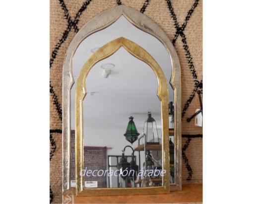 espejo marroqui latón