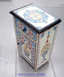 mesa de noche marroqui madera pintada