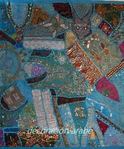 tapiz india pared patchwork