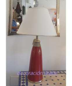 lámpara mesa marroquí burdeos pequeña