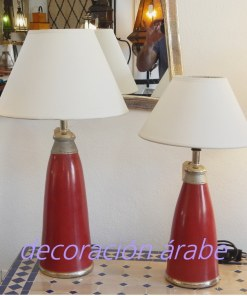 lámpara mesa marroquí burdeos