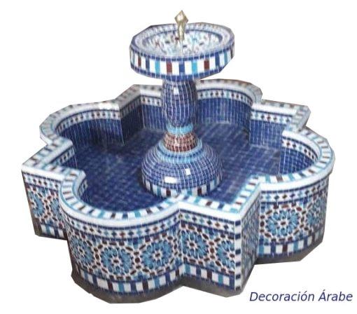 fuente marroquí de mosaico suelo