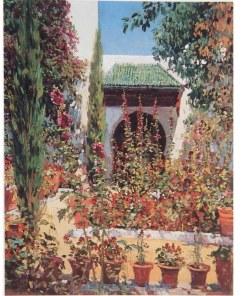 Poster M Bertuchi Jardin, Marruecos