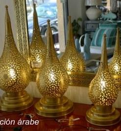lampara de mesa árabe latón
