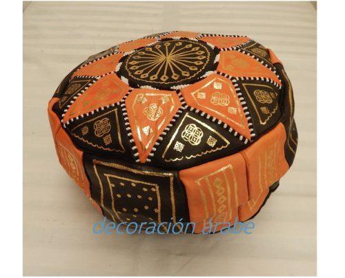 puff marroquí naranja