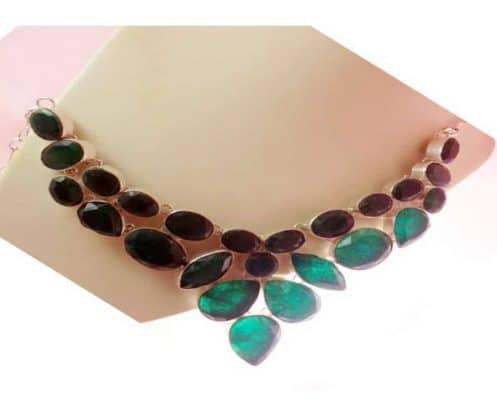 collar jade verde India