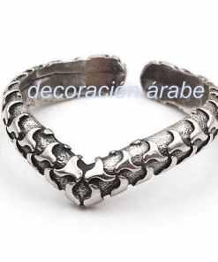 anillo plata árabe