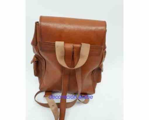 mochila cuero marroquí