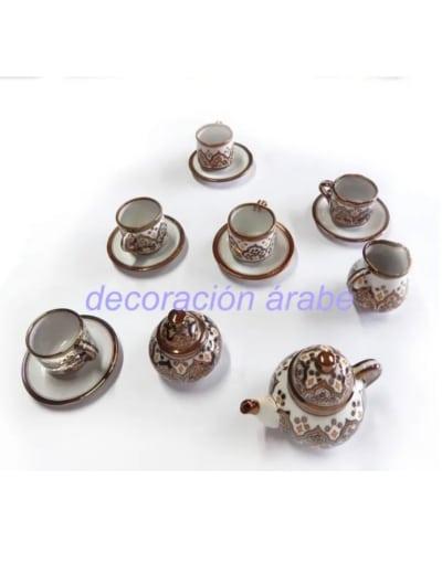 juego té cerámica arabe andaluza