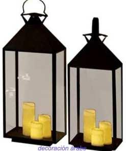 faro árabe forja cristal vela