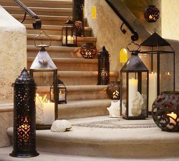 decoración árabe lámparas marroquíes