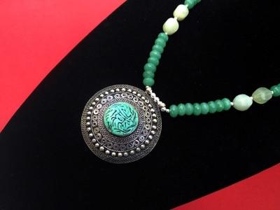 collar artesanal étnico gemas