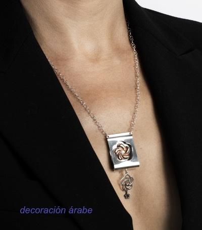 collar de mujer oro plata circonita