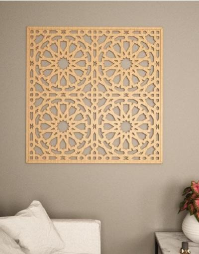 Celosía de pared en madera Alhambra