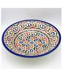 vajilla marroquí cerámica plato hondo