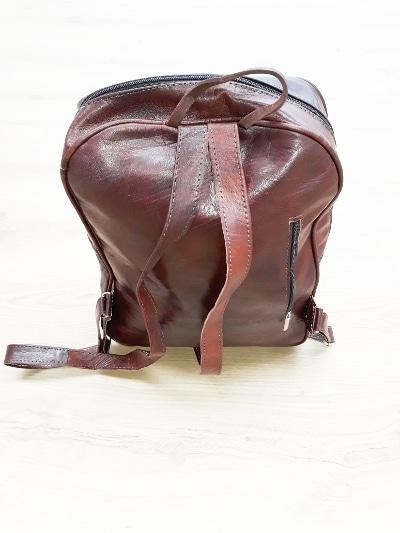 mochila hombre cuero