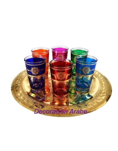 vasos grabados té