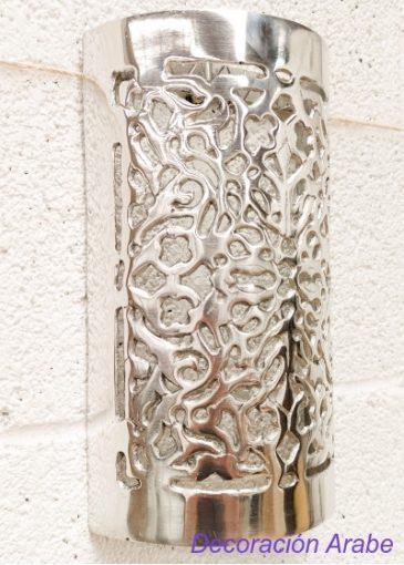 aplique cromado árabe de pared