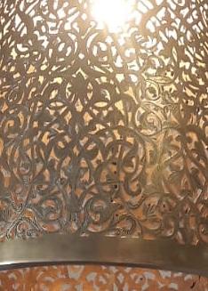 lampara dorada cobre marroquí
