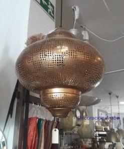 lampara dorada colgante marroquí