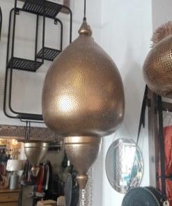 lampara colgante dorada marroquí
