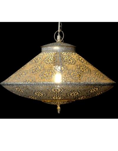 lampara de techo de India blanca puna