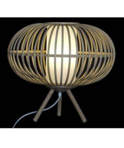 lampara de bambú rustica