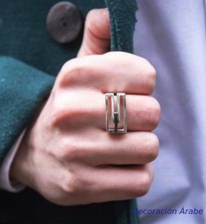 anillo plata unisex